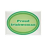 Proud Irishwoman Rectangle Magnet (10 pack)