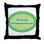 Proud Irishwoman Throw Pillow