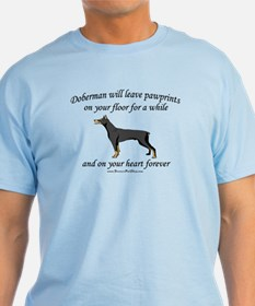 Doberman Pawprints T-Shirt