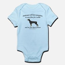 Doberman Pawprints Infant Bodysuit