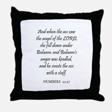 NUMBERS  22:27 Throw Pillow