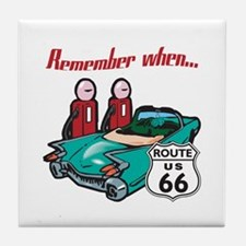 Remember When Route 66 Tile Coaster