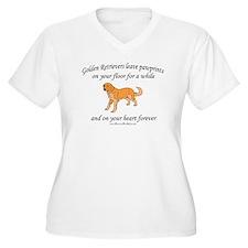 Golden Retriever Pawprints T-Shirt
