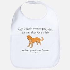 Golden Retriever Pawprints Bib
