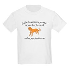 Golden Retriever Pawprints T-Shirt