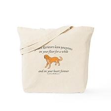 Golden Retriever Pawprints Tote Bag