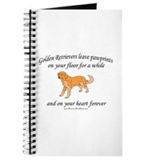 Golden Retriever Pawprints Journal