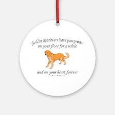 Golden Retriever Pawprints Ornament (Round)
