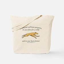 Greyhound Pawprints Tote Bag