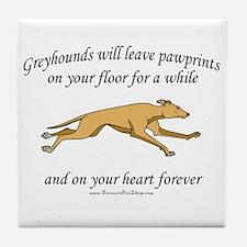 Greyhound Pawprints Tile Coaster
