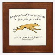 Greyhound Pawprints Framed Tile