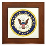 United States Navy Emblem Framed Tile