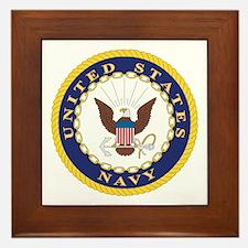 United States Navy Emblem Framed Tile