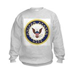 United States Navy Emblem Kids Sweatshirt