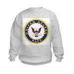 United States Navy Emblem (Front) Kids Sweatshirt