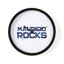 mauricio rocks Wall Clock