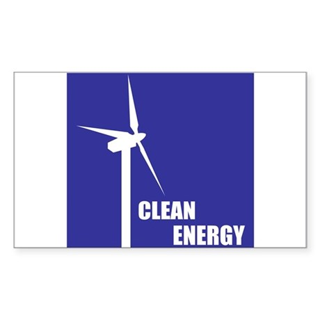 Clean Energy Rectangle Sticker
