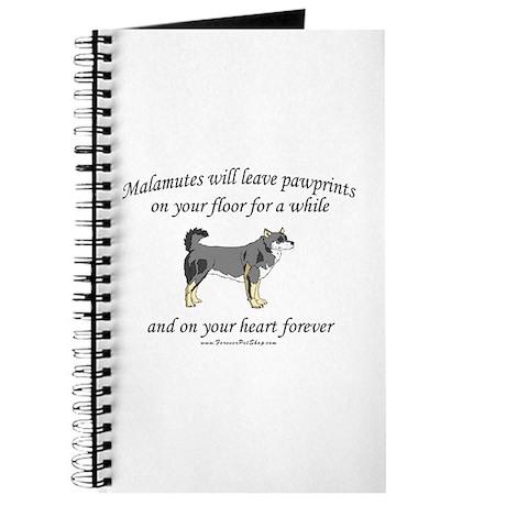 Malamute Pawprints Journal