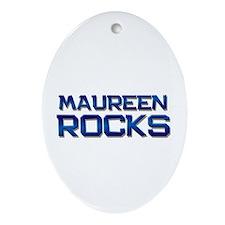 maureen rocks Oval Ornament