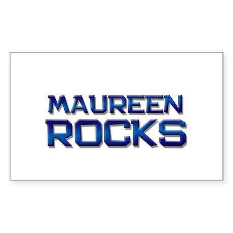 maureen rocks Rectangle Sticker