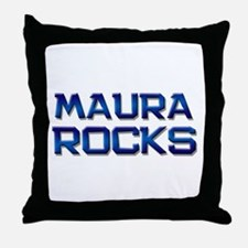 maura rocks Throw Pillow