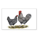 Cuckoo Marans Rectangle Sticker 50 pk)