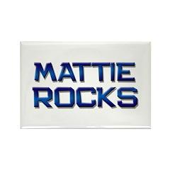 mattie rocks Rectangle Magnet (10 pack)