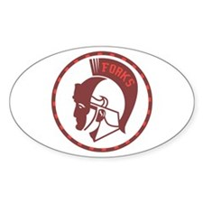 Twilight Forks Spartans Mascot Oval Decal