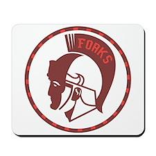 Twilight Forks Spartans Mascot Mousepad