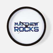 matthew rocks Wall Clock