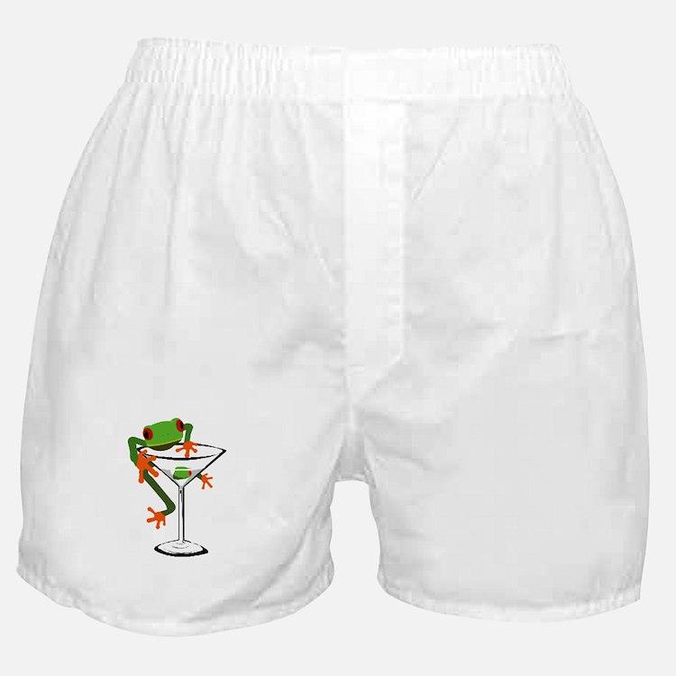 Frog and Martini Boxer Shorts