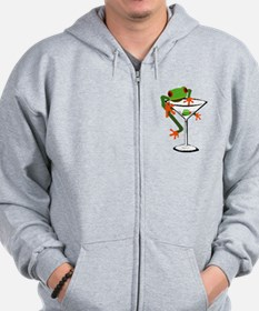 Frog and Martini Zip Hoodie