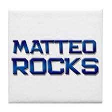 matteo rocks Tile Coaster