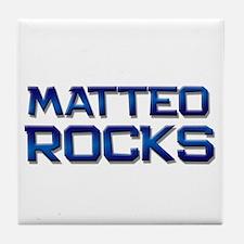 matteo rocks Tile Coaster