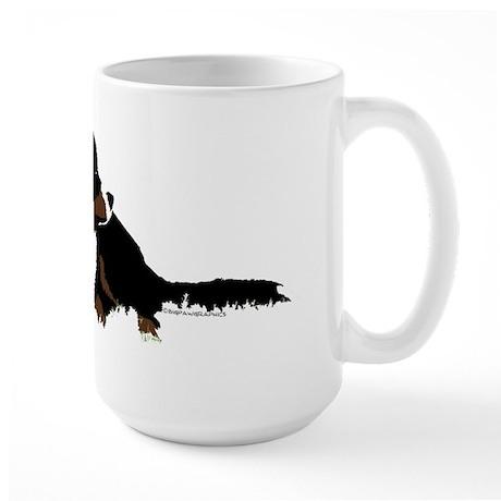 Big paw dog flat Mugs