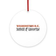 Washington D C Ornament (Round)