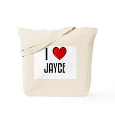 I LOVE JAYCE Tote Bag