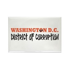 Washington D C Rectangle Magnet