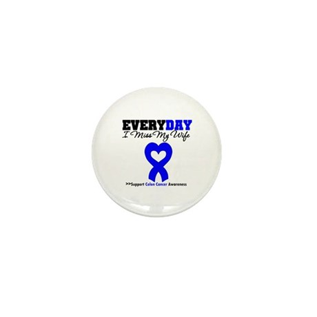 ColonCancerHeart Wife Mini Button (10 pack)