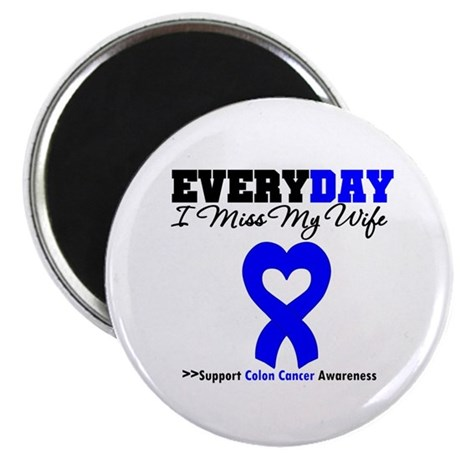 "ColonCancerHeart Wife 2.25"" Magnet (10 pack)"