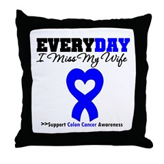 ColonCancerHeart Wife Throw Pillow