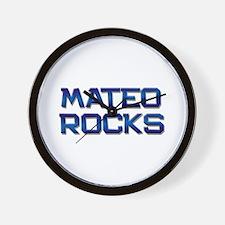 mateo rocks Wall Clock