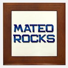 mateo rocks Framed Tile