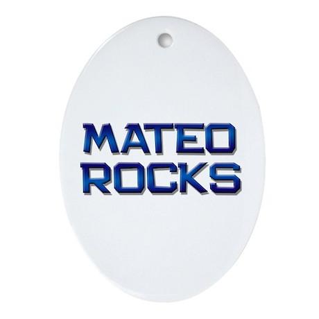 mateo rocks Oval Ornament