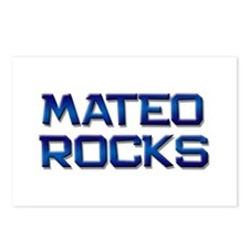 mateo rocks Postcards (Package of 8)