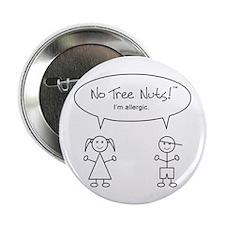 "Tree Nut Allergy 2.25"" Button"