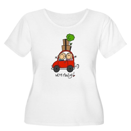 Car We're Moving Women's Plus Size Scoop Neck T-Sh
