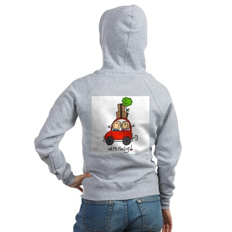 Car We're Moving Women's Zip Hoodie