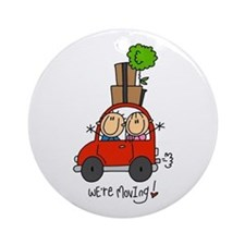 Car We're Moving Ornament (Round)