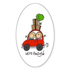 Car We're Moving Oval Decal